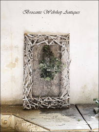 Old pure wooden frame