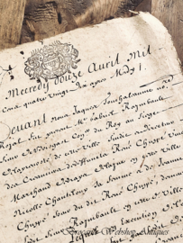 Antique french document/ paper work