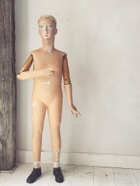 Franse antieke étalage pop/ French antique étalage mannequin