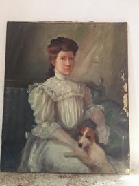 Antiek portret/ Antique french portrait