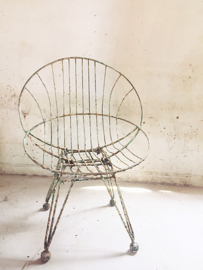 Antiek frans desigern stoeltje/ Antique french design garden chair.
