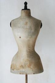 Antieke wespentaille paspop/ mannequin