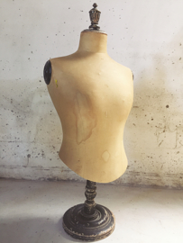 Franse Stockman  tafelbuste van zijde/ French silk table bust