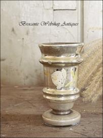 Old mercure silver glass vase