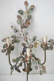 Franse bloemen wandlamp