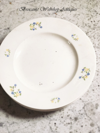 Set of 6 old plates