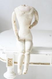 Antieke franse lederen pop