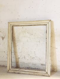 Antieke witte oud houten lijst Empire stijl/ Antique french frame Empire style