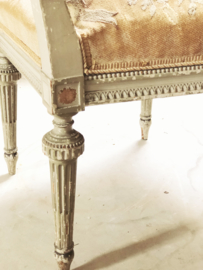Antique french bow chair