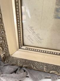 Antieke franse kinder foto in lijst
