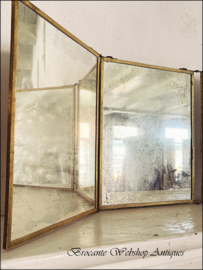 Grote drieluik spiegel