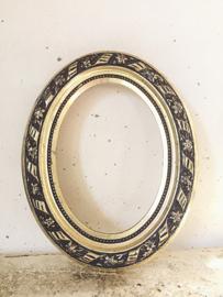 Wit gouden lijst/ Blanc d'or frame