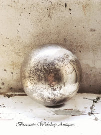 GROTE franse zilveren armeluis heksenbal