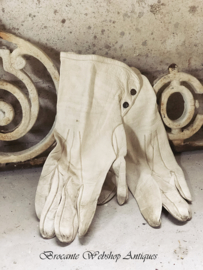 Old french leather gloves