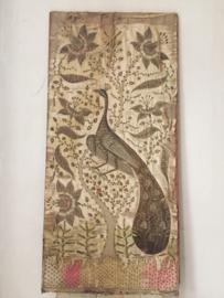 Antiek frans zijden paneel/ Antique french silk panel