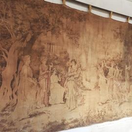 Antiek gobelin frans wandkleed/ Antique gobelin french wall cloth