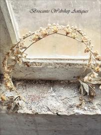 Oude franse wassen kroon