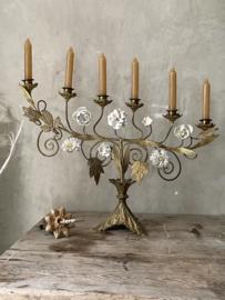 Unique porcelain candelabra