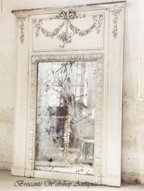 Antieke trumeau spiegel XXL size