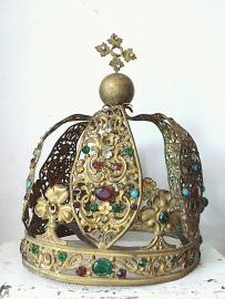 Antieke franse kroon/ Antique french crown   -huge item- gereserveerd