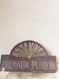 Oud frans reclame bord