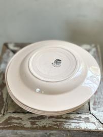 Set oude franse borden rose