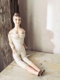 Antieke wassen pop/  Antique wax doll