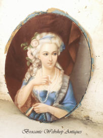 Uniek GROOTS pastelkrijt portret