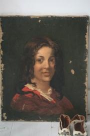 Frans portret op linnen