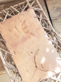 Oude puur houten lijst