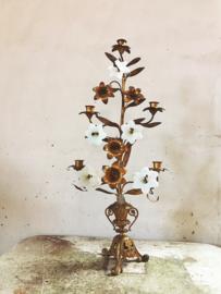 Franse opaline kandelaar/ French opaline candlestick