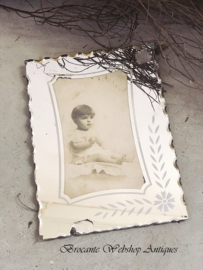 French mirror frame with picture