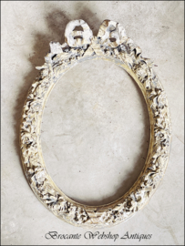 Antique french oval bow frame