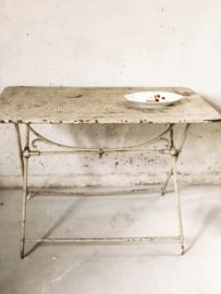 French antique bistro table