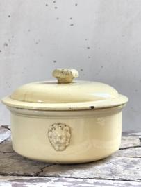 Franse antieke aardewerken paté pot