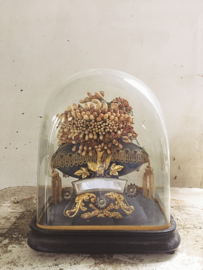 Antieke franse bruidsstolp/ Antique french glass dome