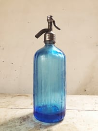Blue soda bottle