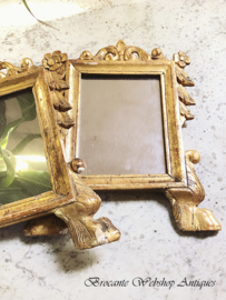 Set of 2 antique small mirrors