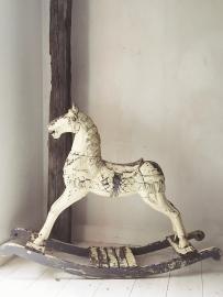 Antiek hobbelpaard/ Antique rocking horse XXXL