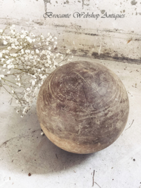 Antique big wooden ball