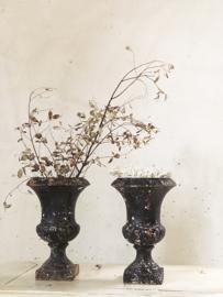 Set franse zwarte jardinières