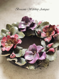 French antique flower wreath