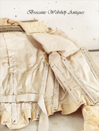 Antieke franse bodice/ zijde corset
