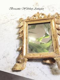 Set van 2 antieke spiegeltjes