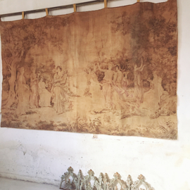 Antique french gobelin wall cloth