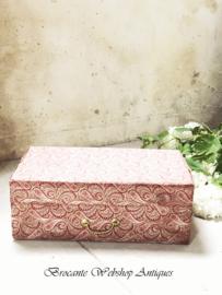 Franse stoffen doos/kistje