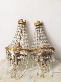 Set franse wandlampjes/ Set french wall lamps