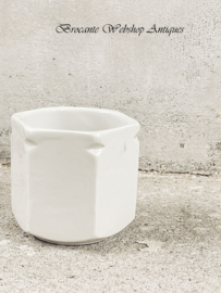 Old hexagonal yoghurt pot
