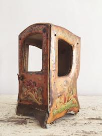 Antiek frans horloge vitrine kastje met putti's