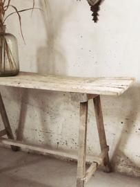 Antieke franse side tafel